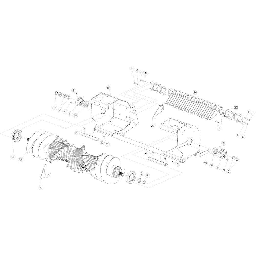 49 Rotor 23-Oc passend voor KUHN VB 2295