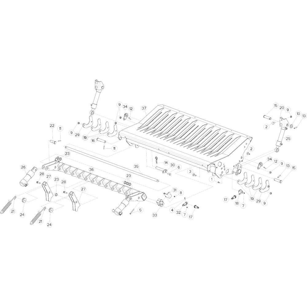 50 Vloer 23-Oc opvang passend voor KUHN VB 2295