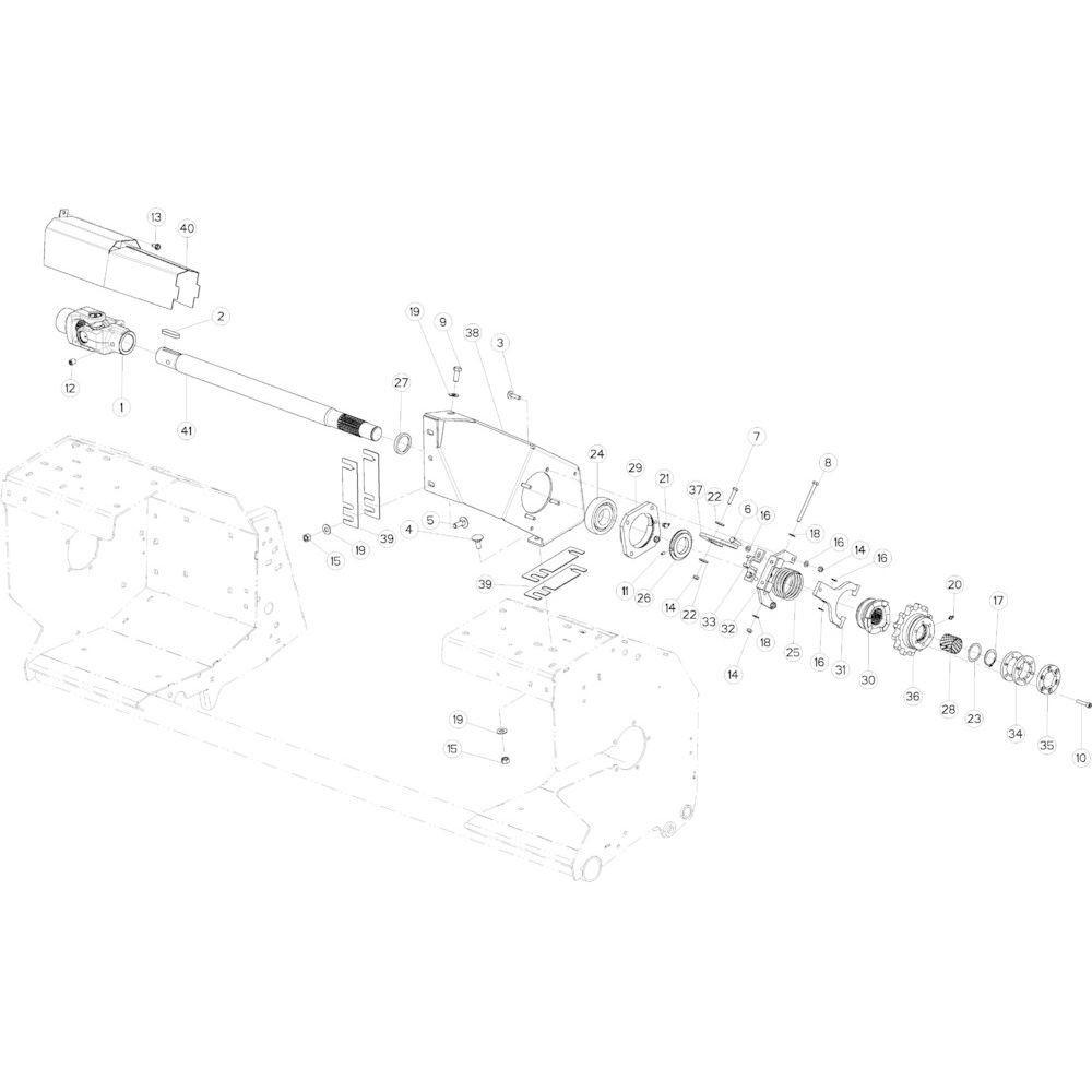 53 Aandrijving R+Oc passend voor KUHN VB 2295