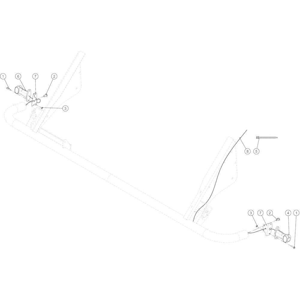 75 Verlichtingsuitrusting voorzijde passend voor KUHN VB 2295