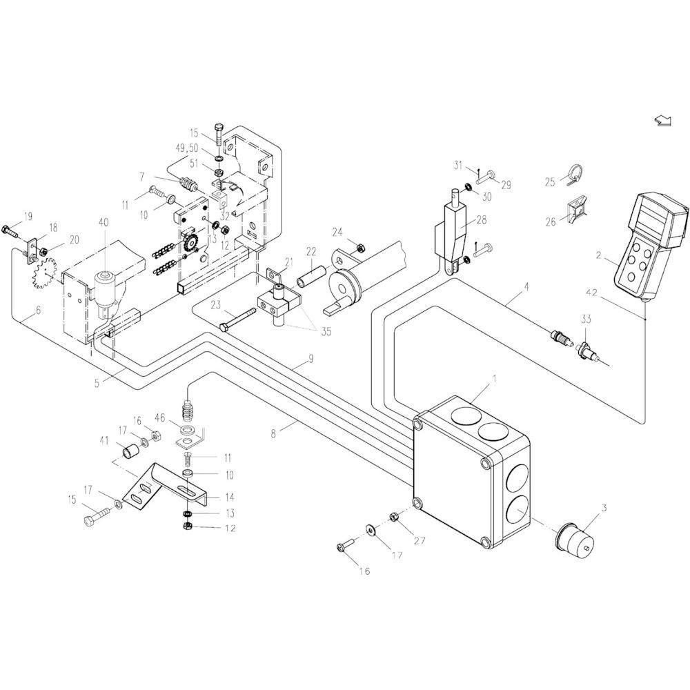43 Elektronische stuurinrichting passend voor KUHN FB119
