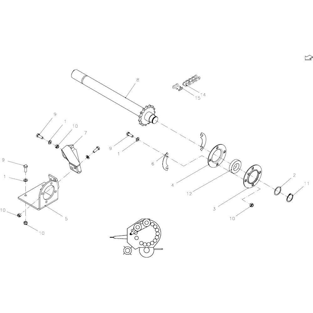 03 Aandrijfas passend voor KUHN FB119