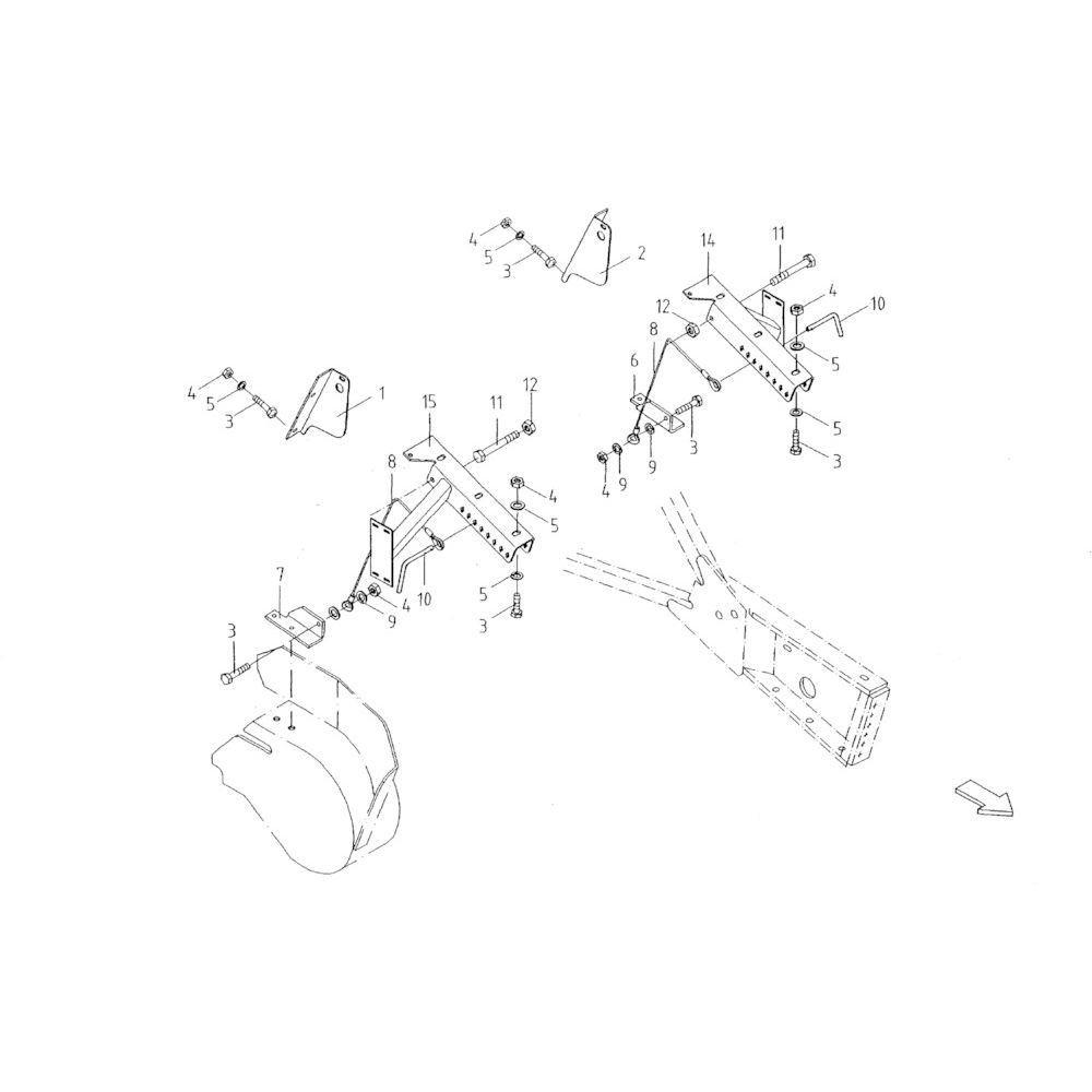 26 Opraper hoogteverstelling passend voor KUHN FB119