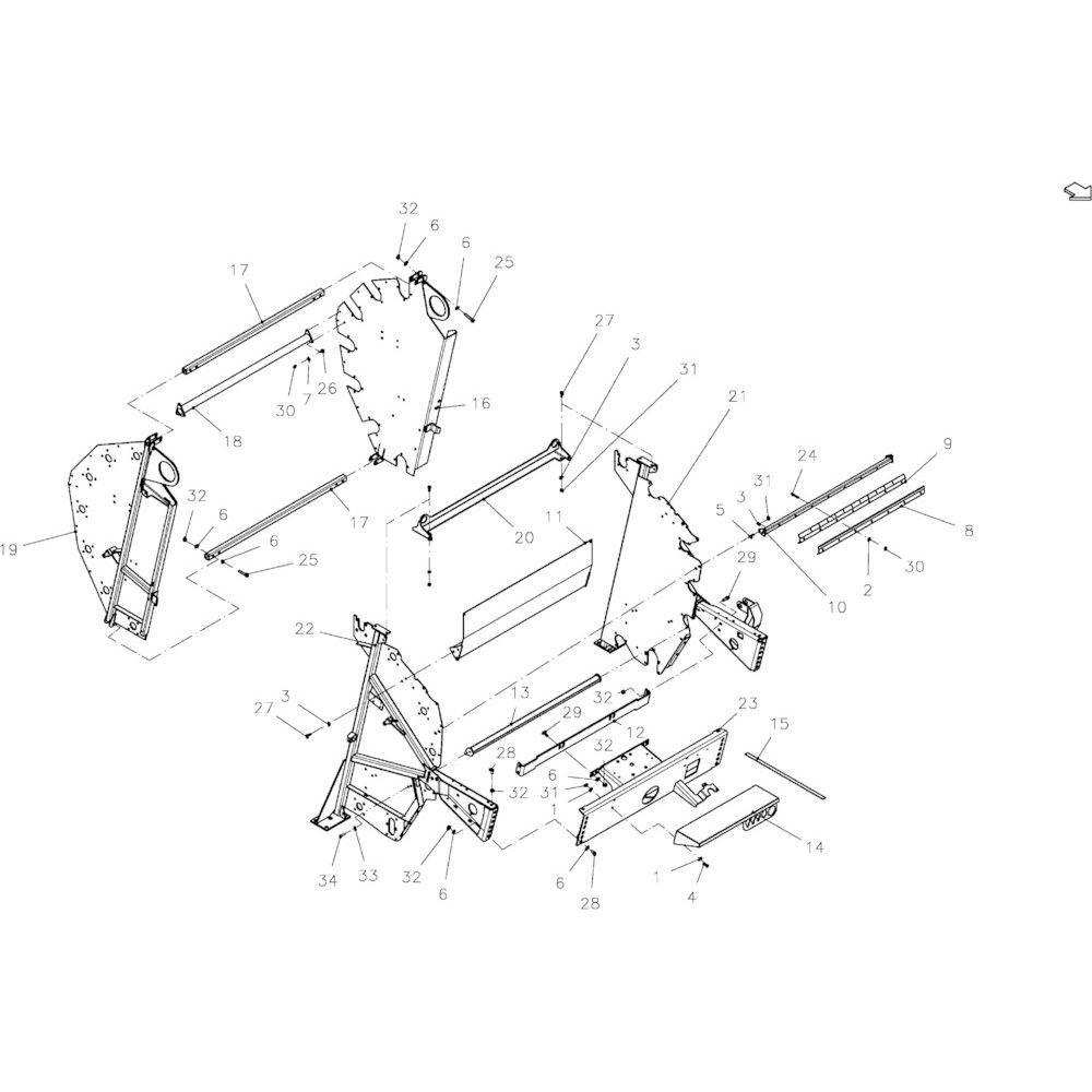 09 Hoofdframe-module passend voor KUHN FB119