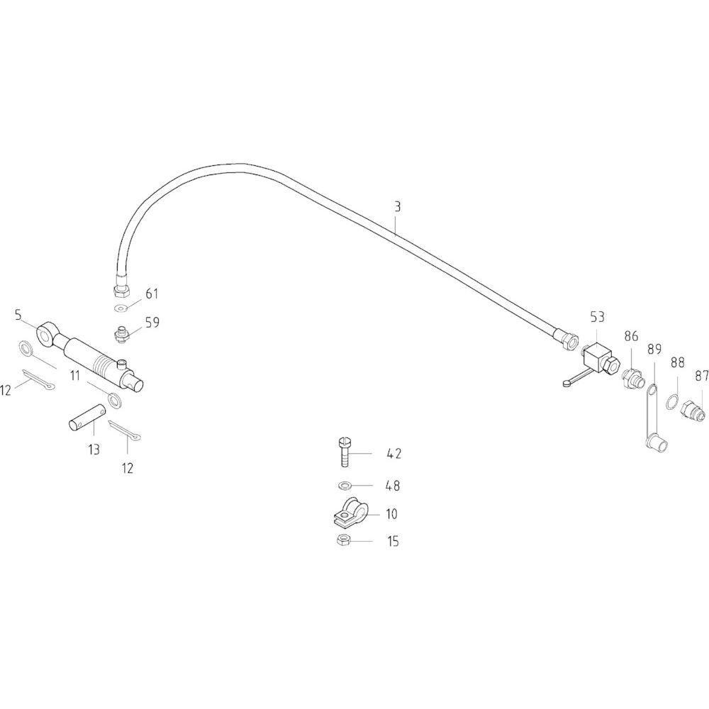 15 Hydraulisch systeem opraper passend voor KUHN FB119