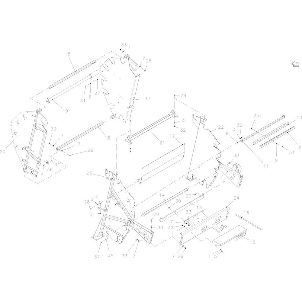 09 Hoofdframe passend voor KUHN FB119