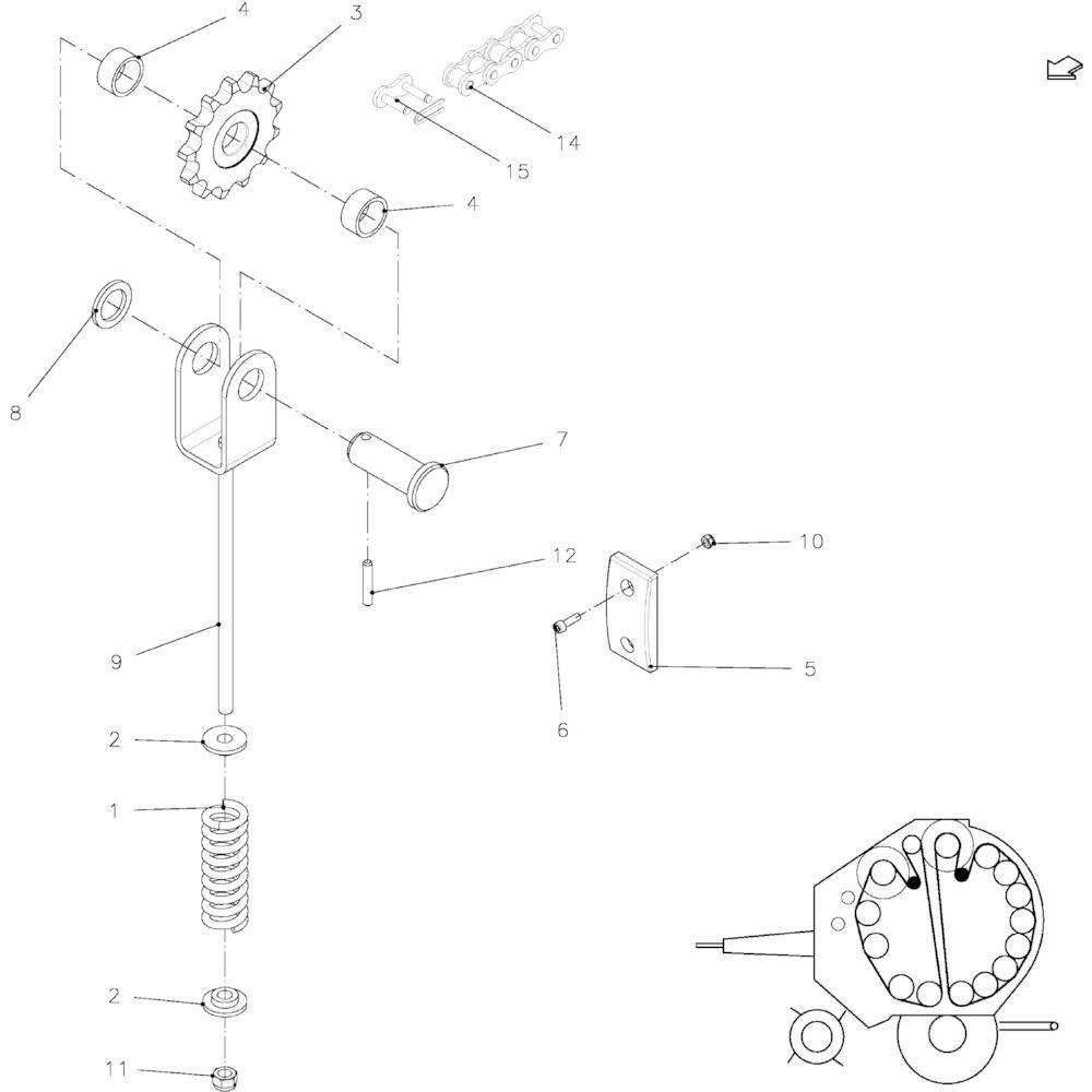 05 Kettingspanner passend voor KUHN FB119