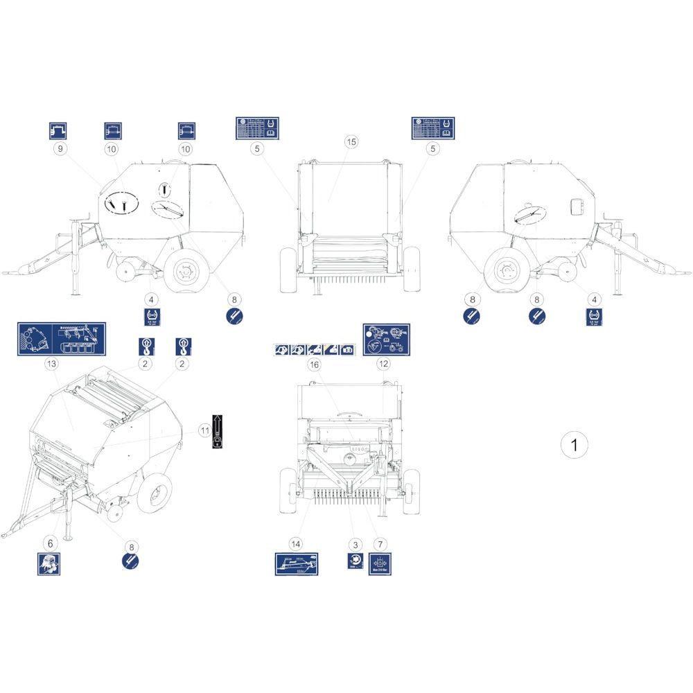 46 Stickers instructies passend voor KUHN FB119