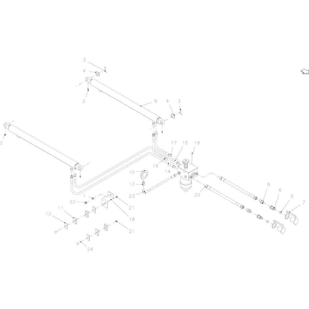 14 Hydraulische achterklep passend voor KUHN FB119
