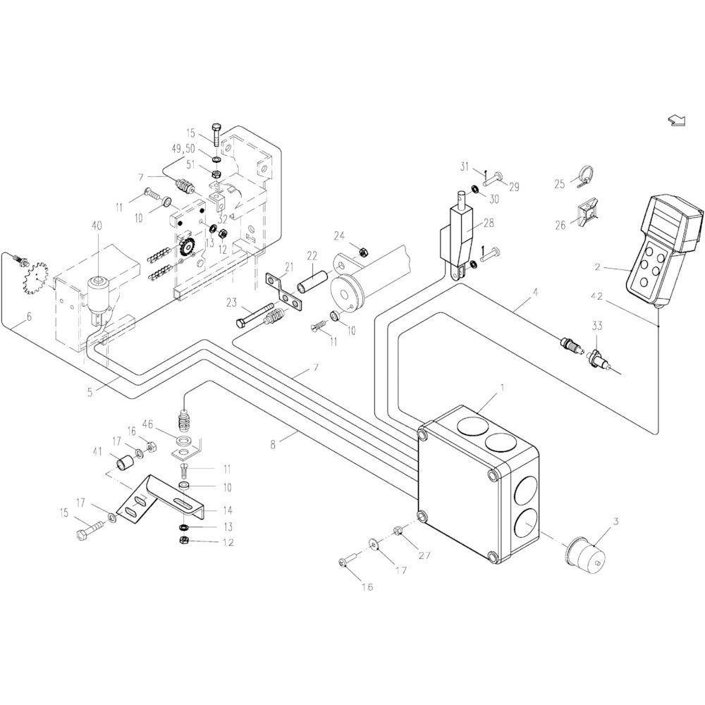 50 Elektronische stuurinrichting passend voor KUHN FB2121