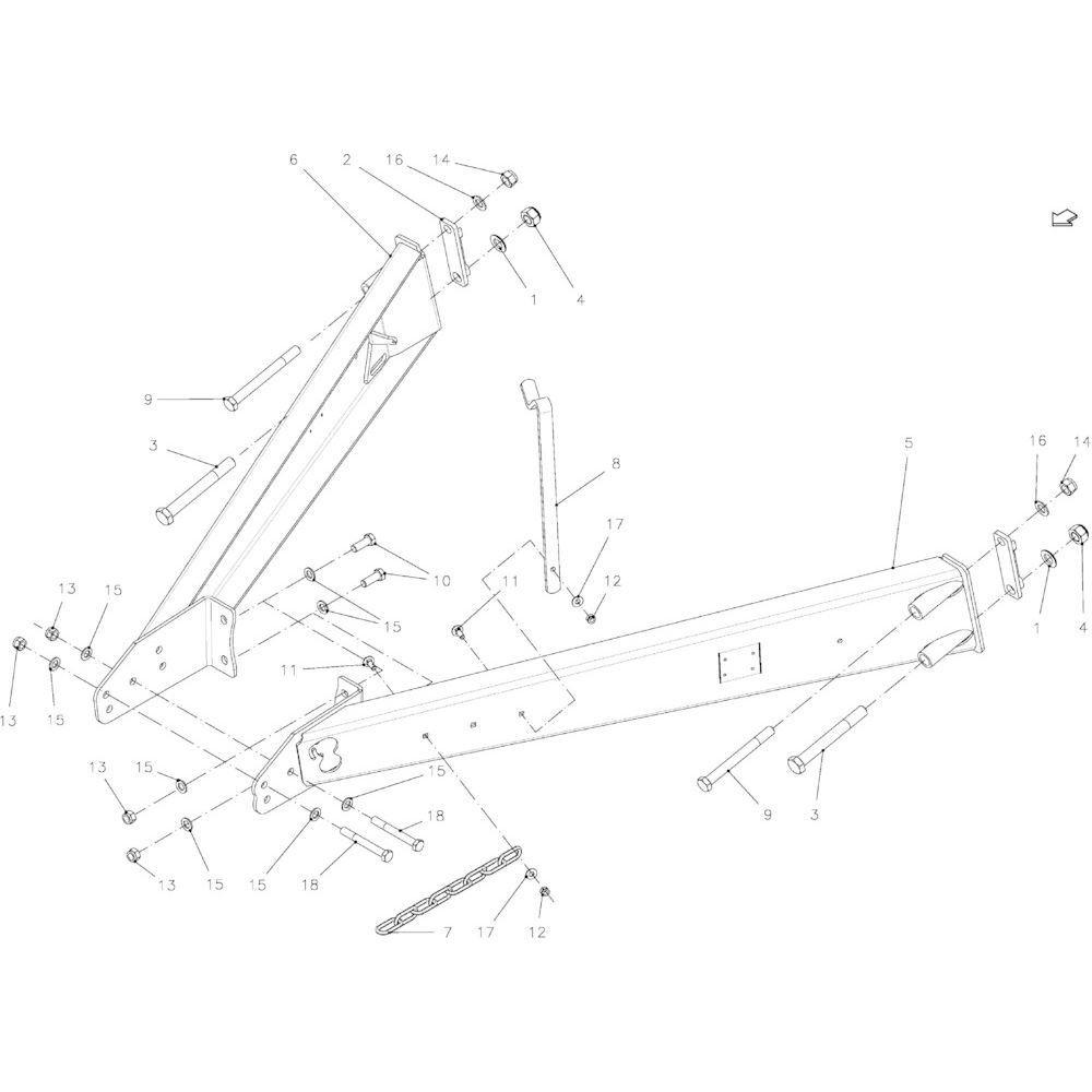 06 Uitrusting hefinrichting passend voor KUHN FB2121