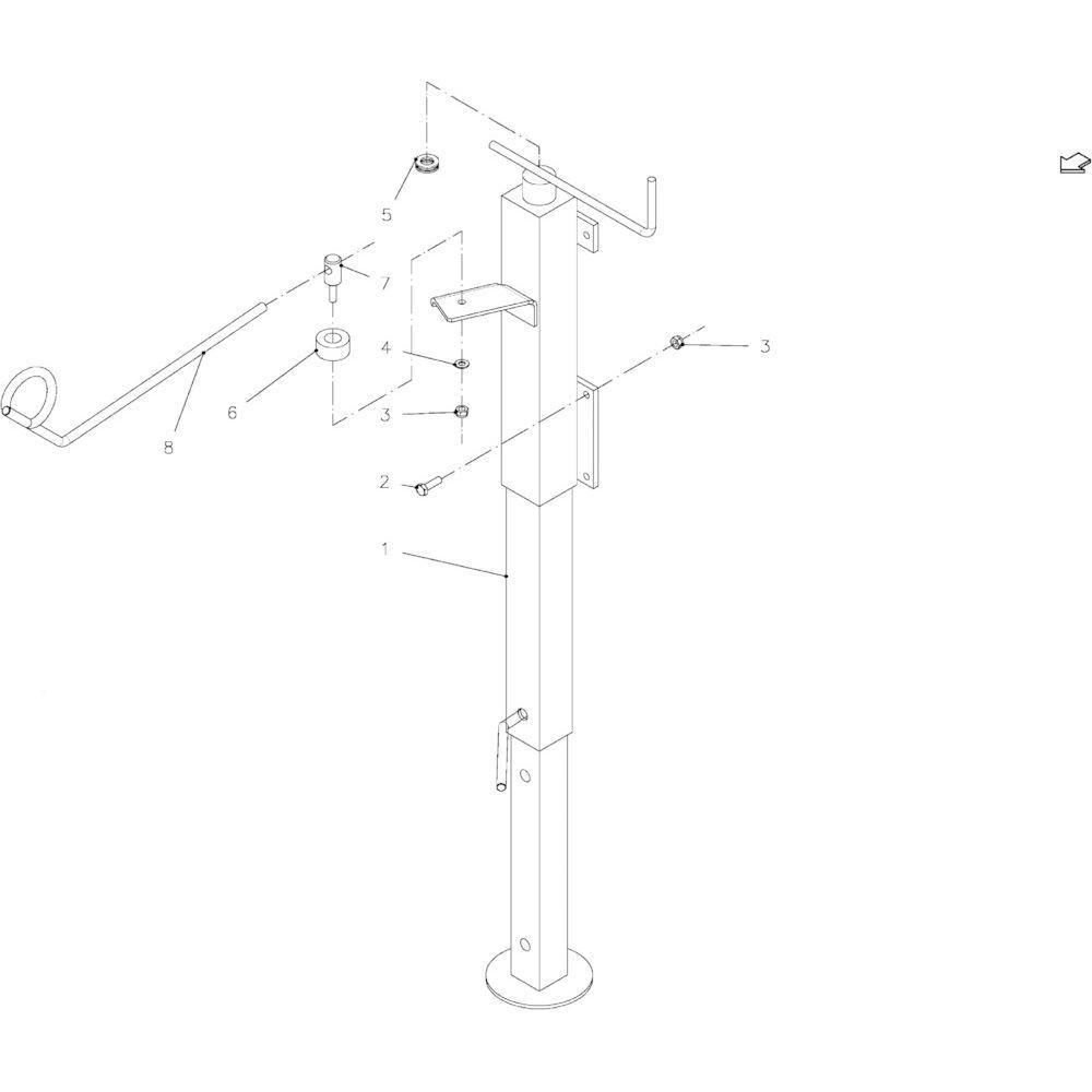 05 Kriksteun, compleet passend voor KUHN FB2121
