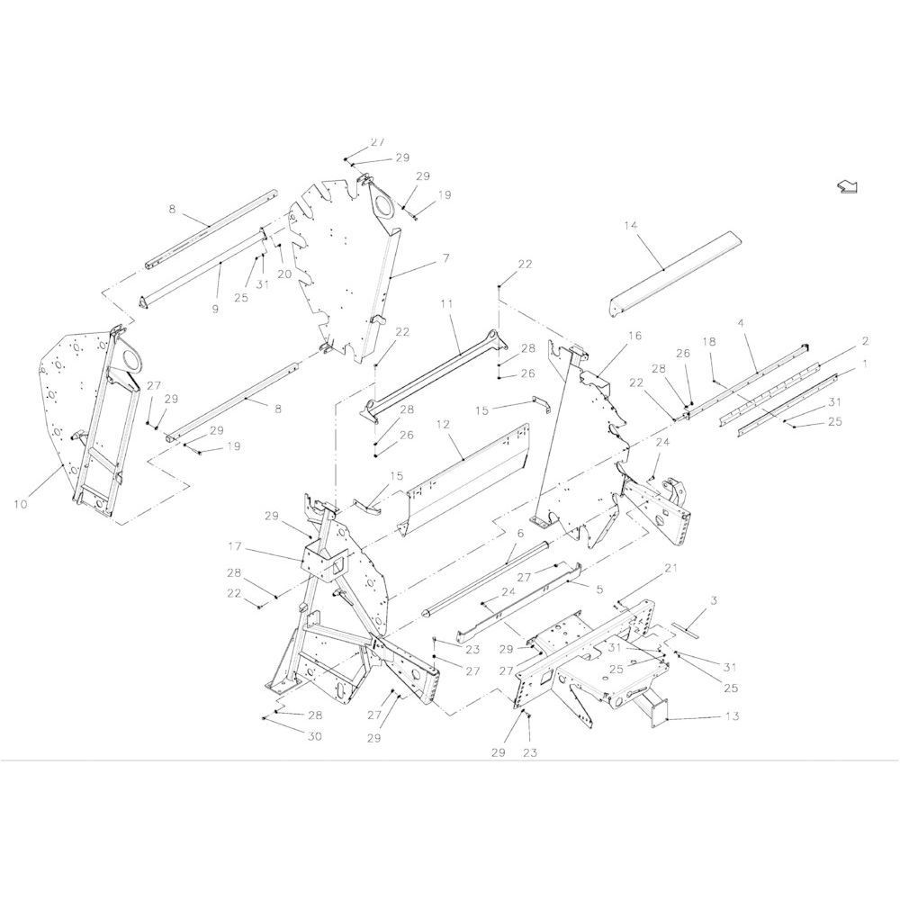 18 Hoofdframe passend voor KUHN FB2121