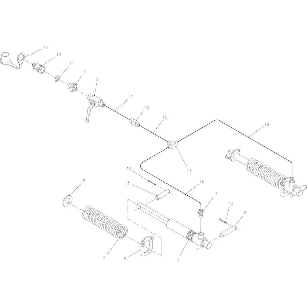 16 Hydraulisch apparaat passend voor KUHN FB2121