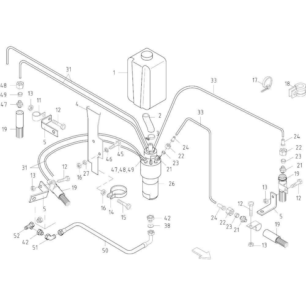 57 Smeersysteem passend voor KUHN FB2130