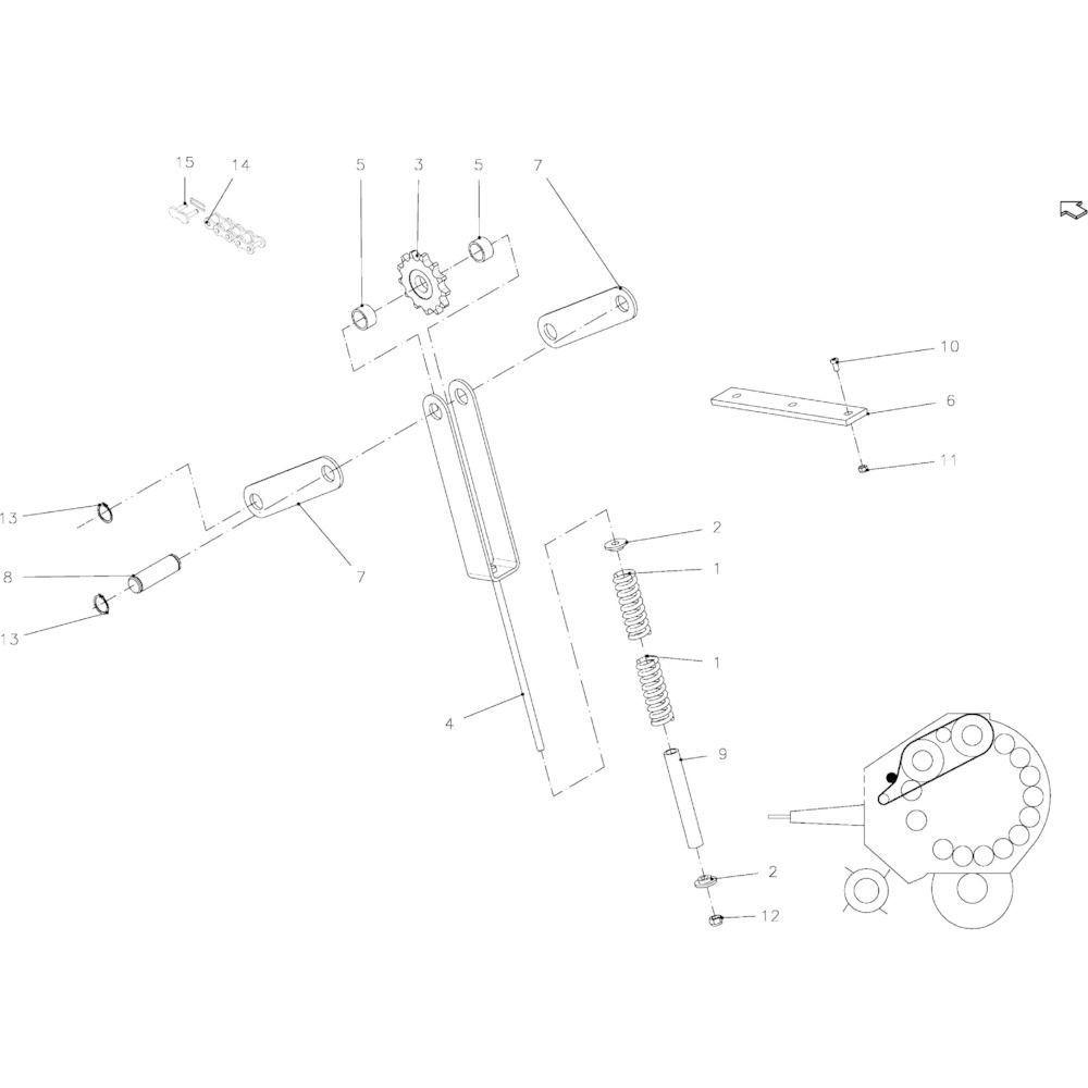 25 Smeersysteem handmatig passend voor KUHN FB2130