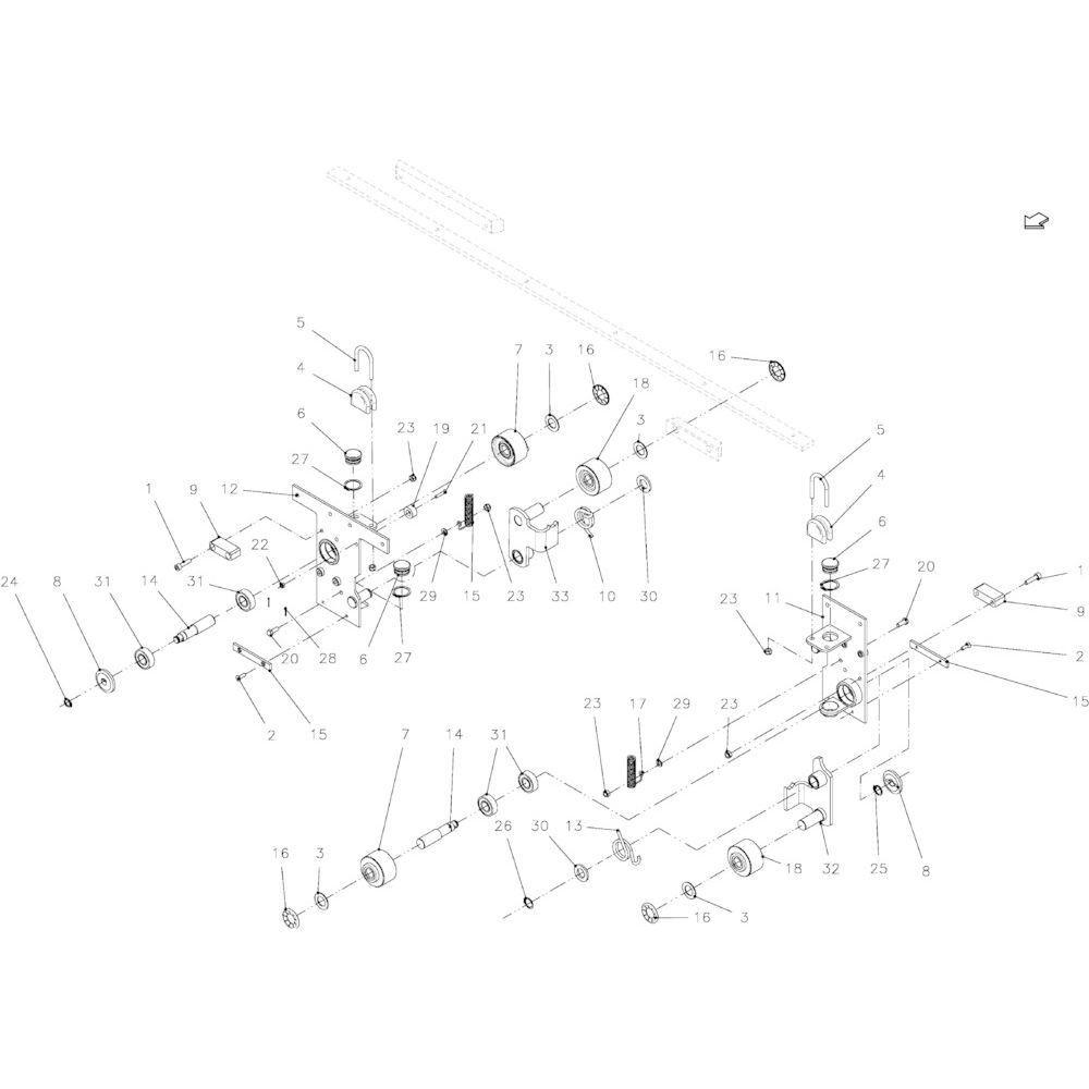 43 Touwbindsysteem passend voor KUHN FB2130