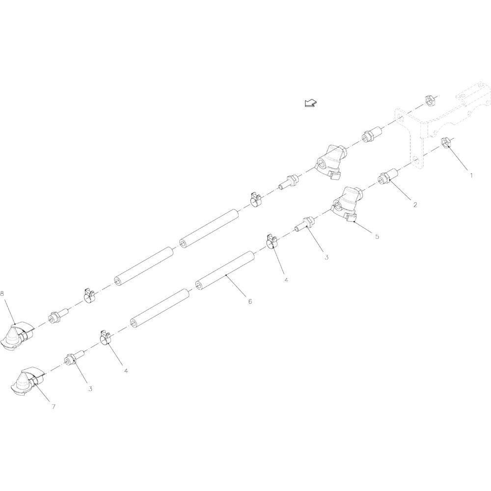 13 Hydraulische rem passend voor KUHN FB2130