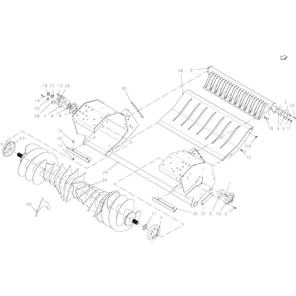 34 Oprapermodule passend voor KUHN FB2130