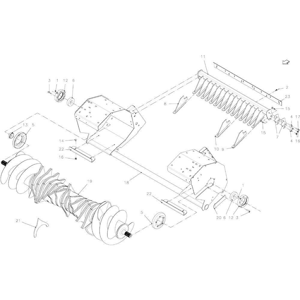 35 Brede rotor passend voor KUHN FB2130