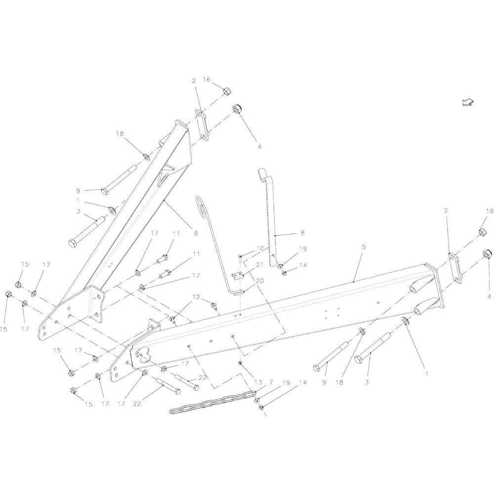 06 Uitrusting hefinrichting passend voor KUHN FB2130