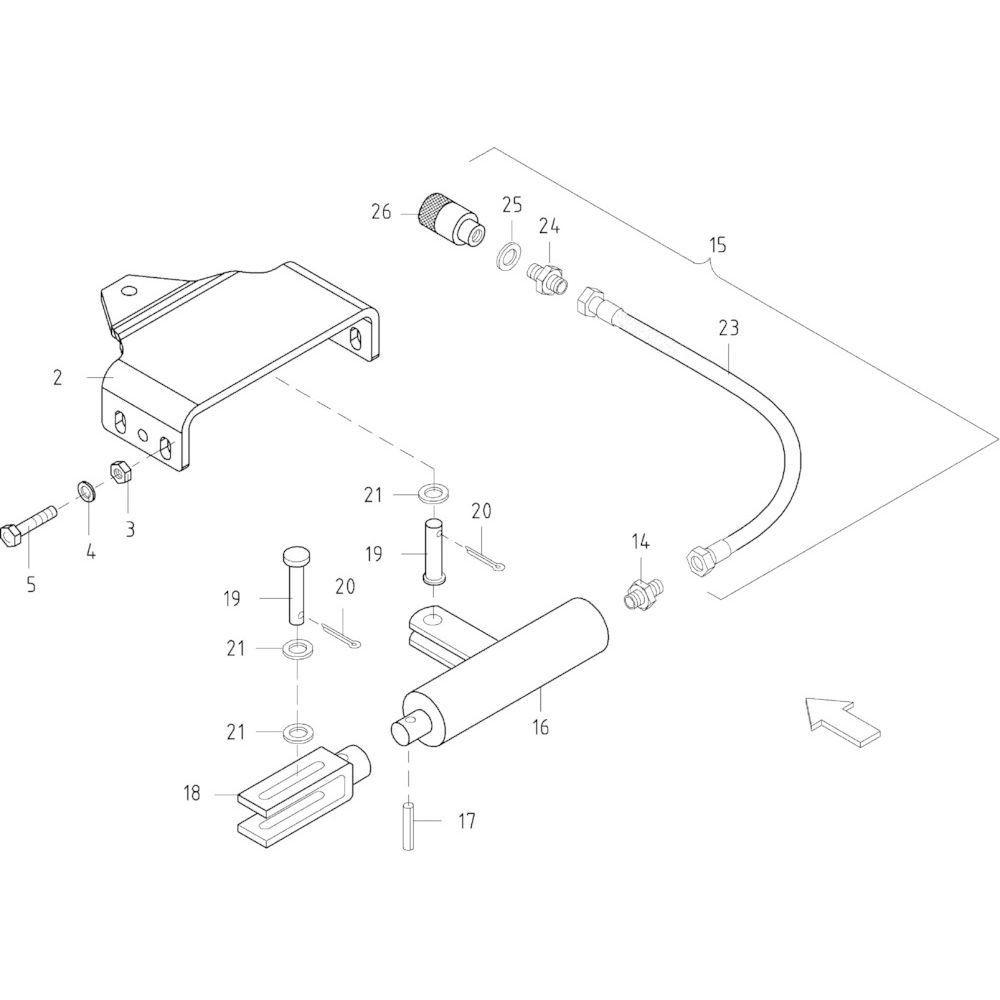 12 Hydraulische remmen passend voor KUHN FB2130