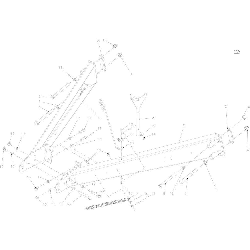 06 Trekstang passend voor KUHN FB2130