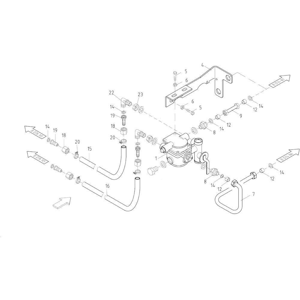 14 Pneumatische rem passend voor KUHN FB2130