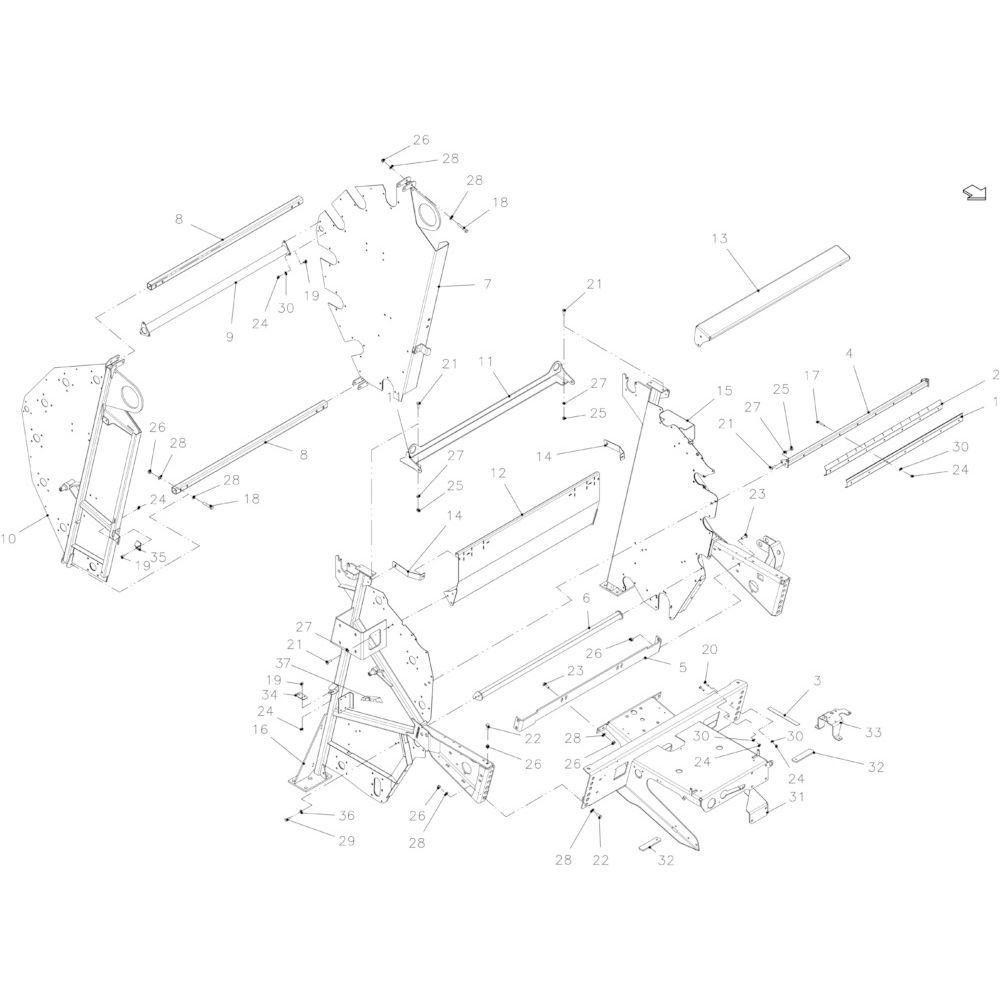 16 Hoofdframe passend voor KUHN FB2130