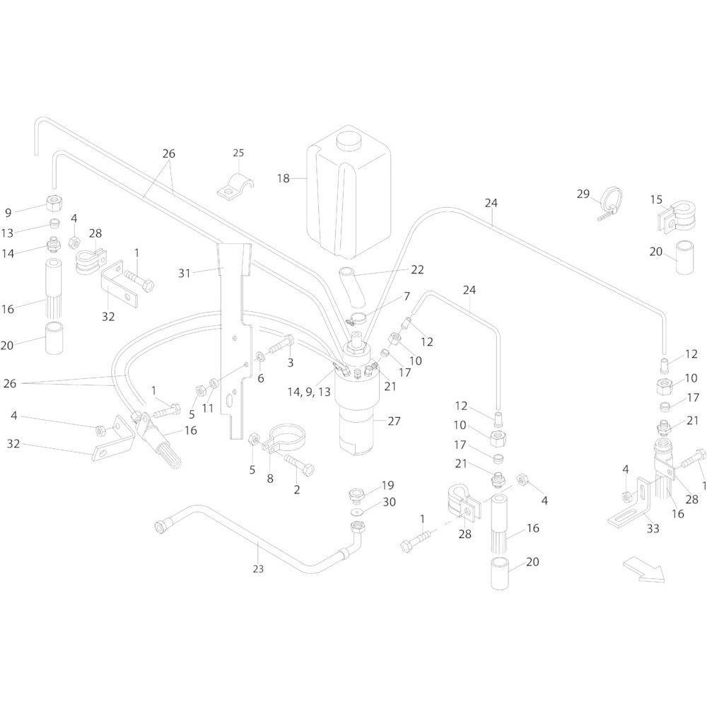 55 Smeersysteem passend voor KUHN FB2130