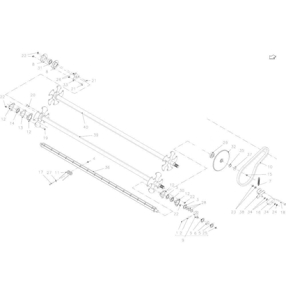 32 Opraper 2,30M passend voor KUHN FB2130