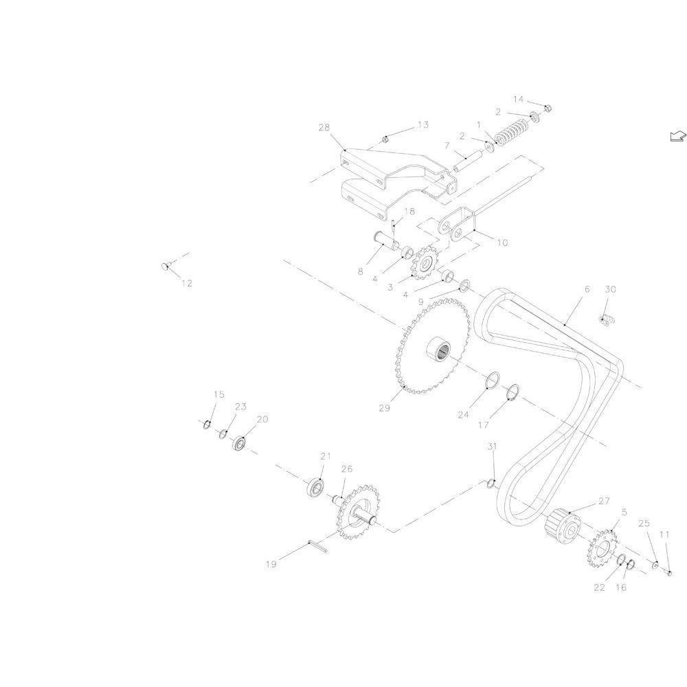 27 Kettingspanner passend voor KUHN FB2130