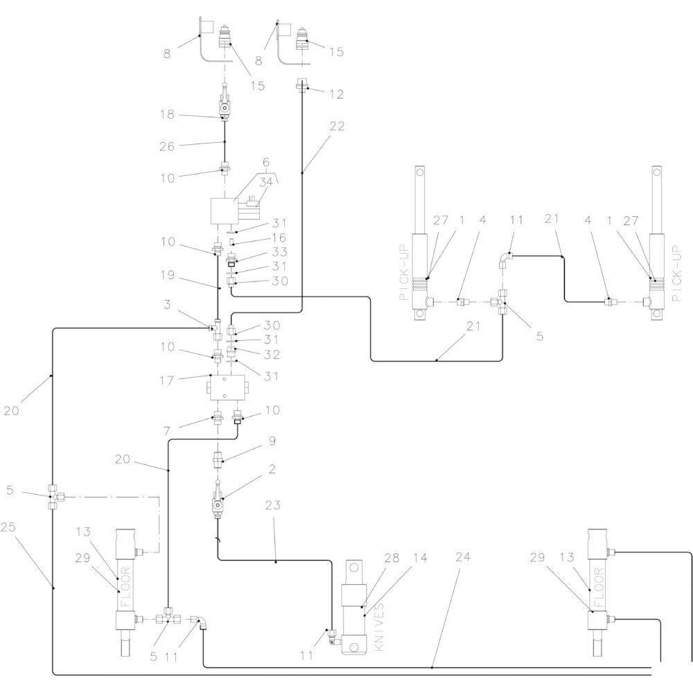 40 Hydraulisch 14-0C passend voor KUHN FB2130