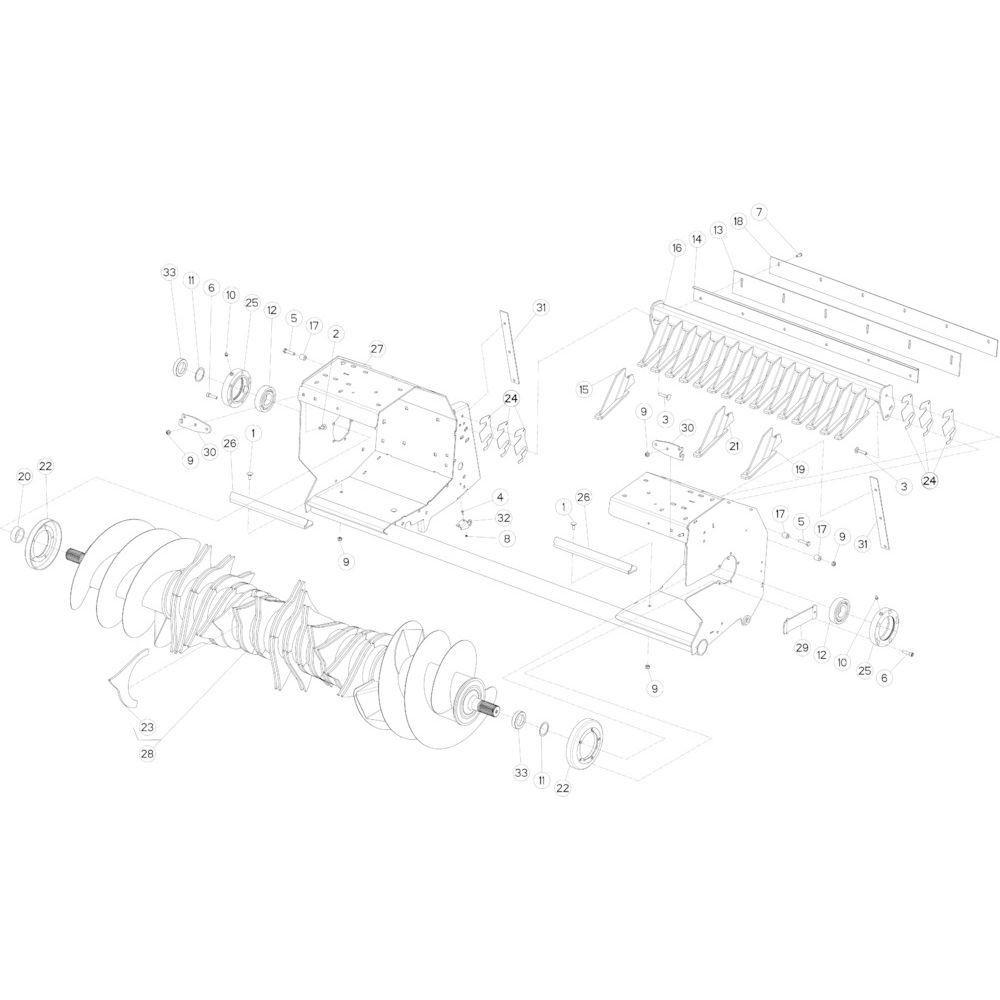 35 Rotor 14-Oc passend voor KUHN FB2130