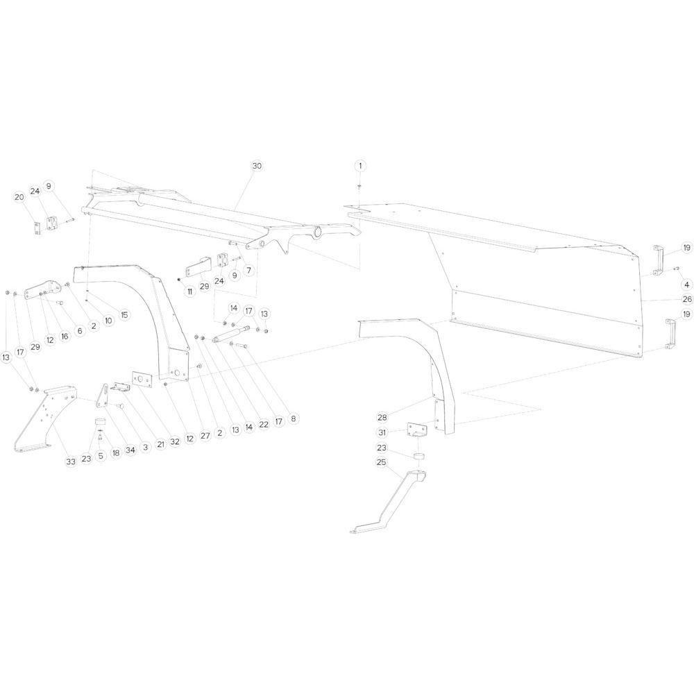 50 Beschermingen voorzijde passend voor KUHN FB2130