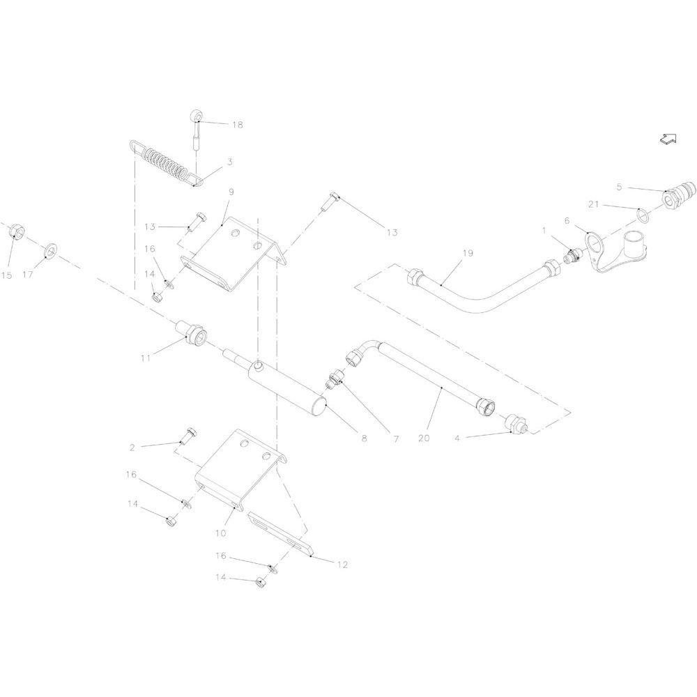 38 Hydraulische rotor passend voor KUHN FB2130