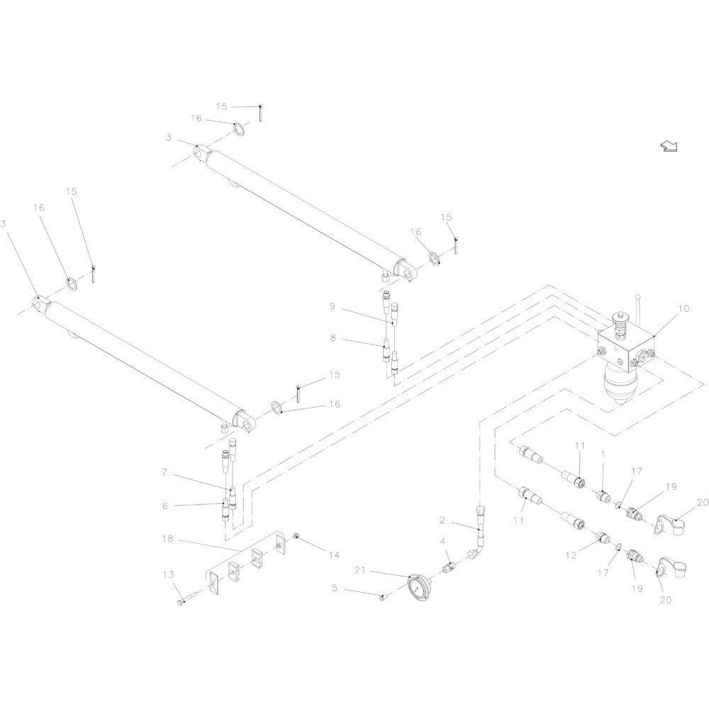 17 Hydraulische hefinrichting passend voor KUHN FB2130