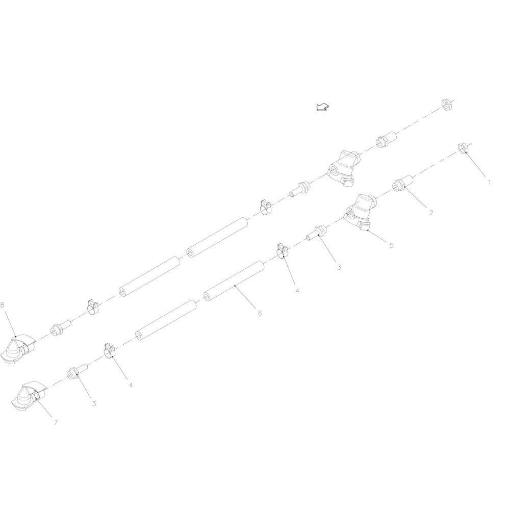13 Pneumatische rem passend voor KUHN FB2130