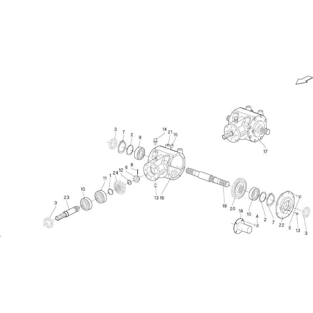 01 Aandrijving primair passend voor KUHN FB2135