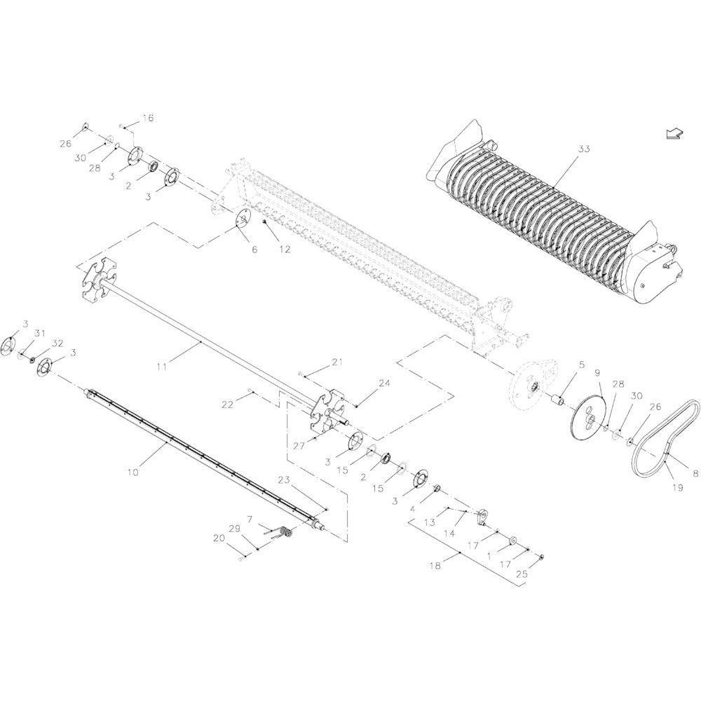 28 Opraper 14-Oc passend voor KUHN FB2135
