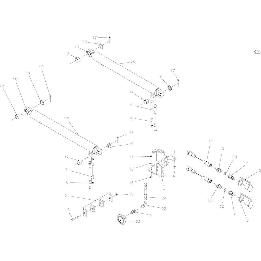 66 Hydraulisch vrijgeefapparaat passend voor KUHN FB2135