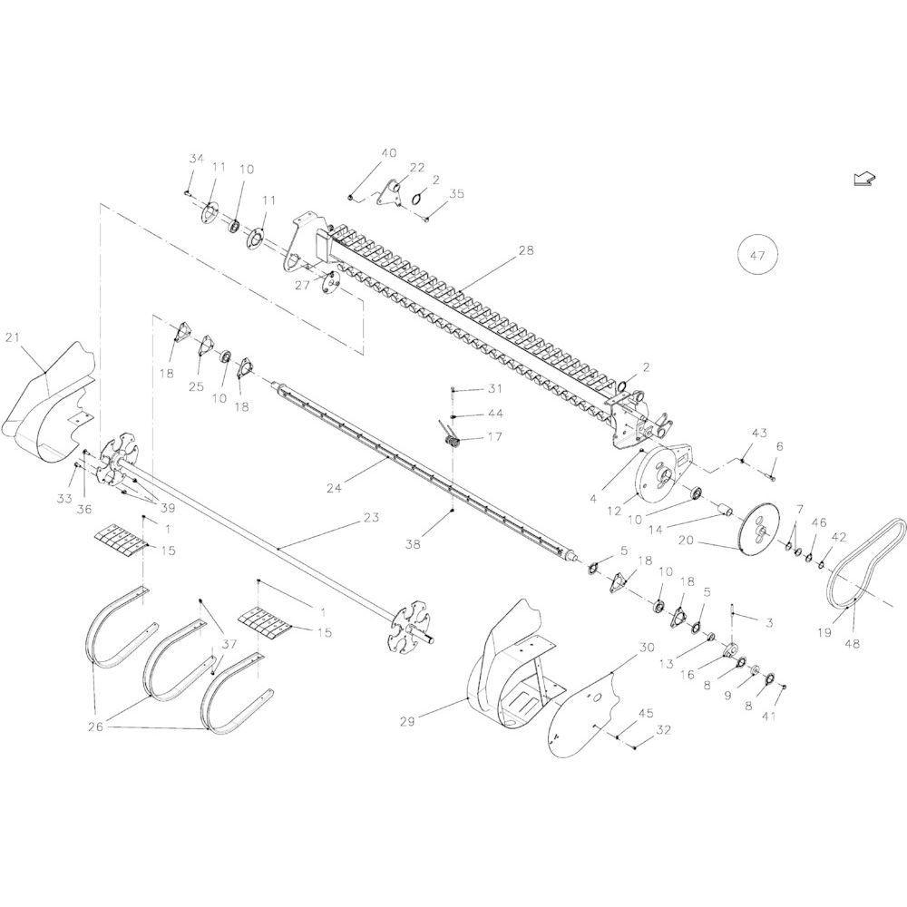 37 Opraper 23Oc+23Oc-Ss passend voor KUHN FB2135