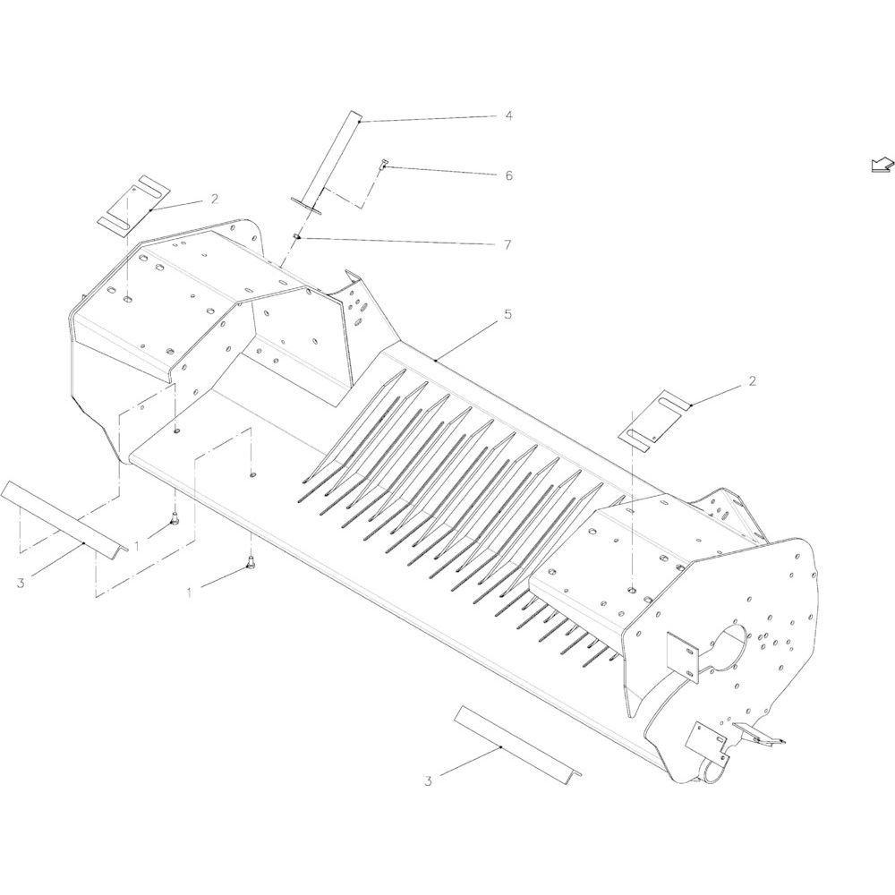 31 Frame, rotor 14-Oc passend voor KUHN FB2135
