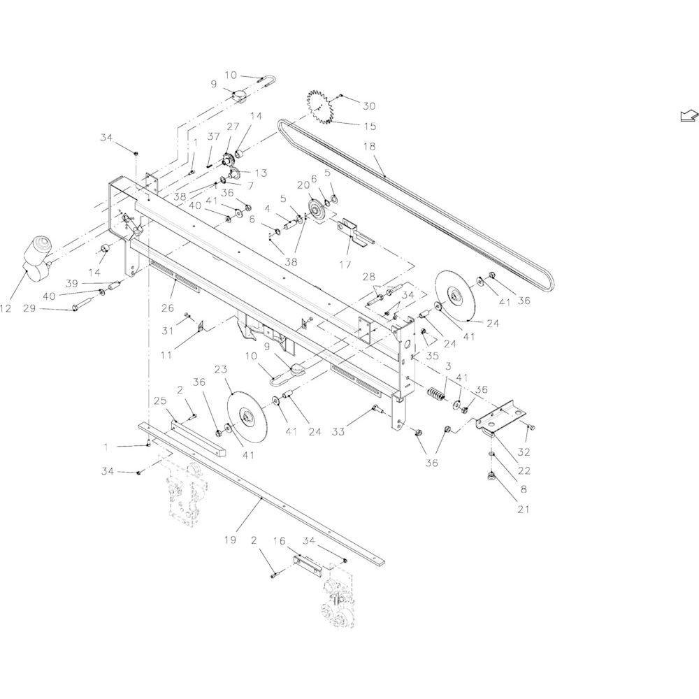 45 Touwbindframe passend voor KUHN FB2135