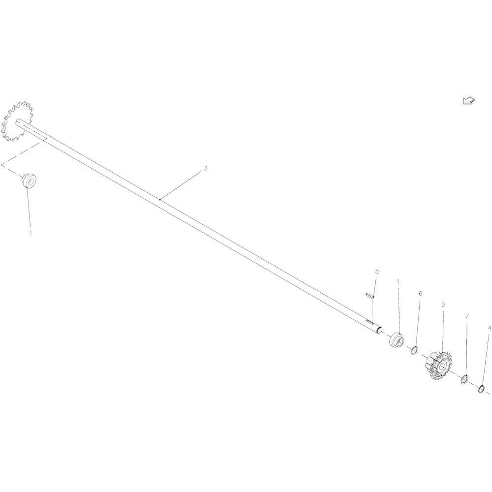 42 Aandrijfas 23-Oc passend voor KUHN FB2135