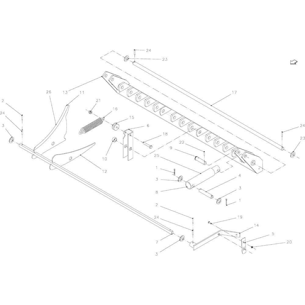 36 Snij-inrichting 14 messen passend voor KUHN FB2135