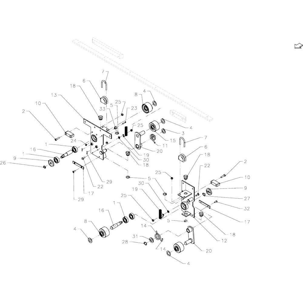46 Glijplatenset passend voor KUHN FB2135