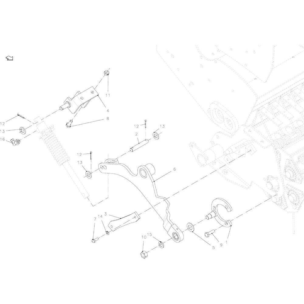 84 Zwenkeenheid, compleet 23-Oc passend voor KUHN FB2135
