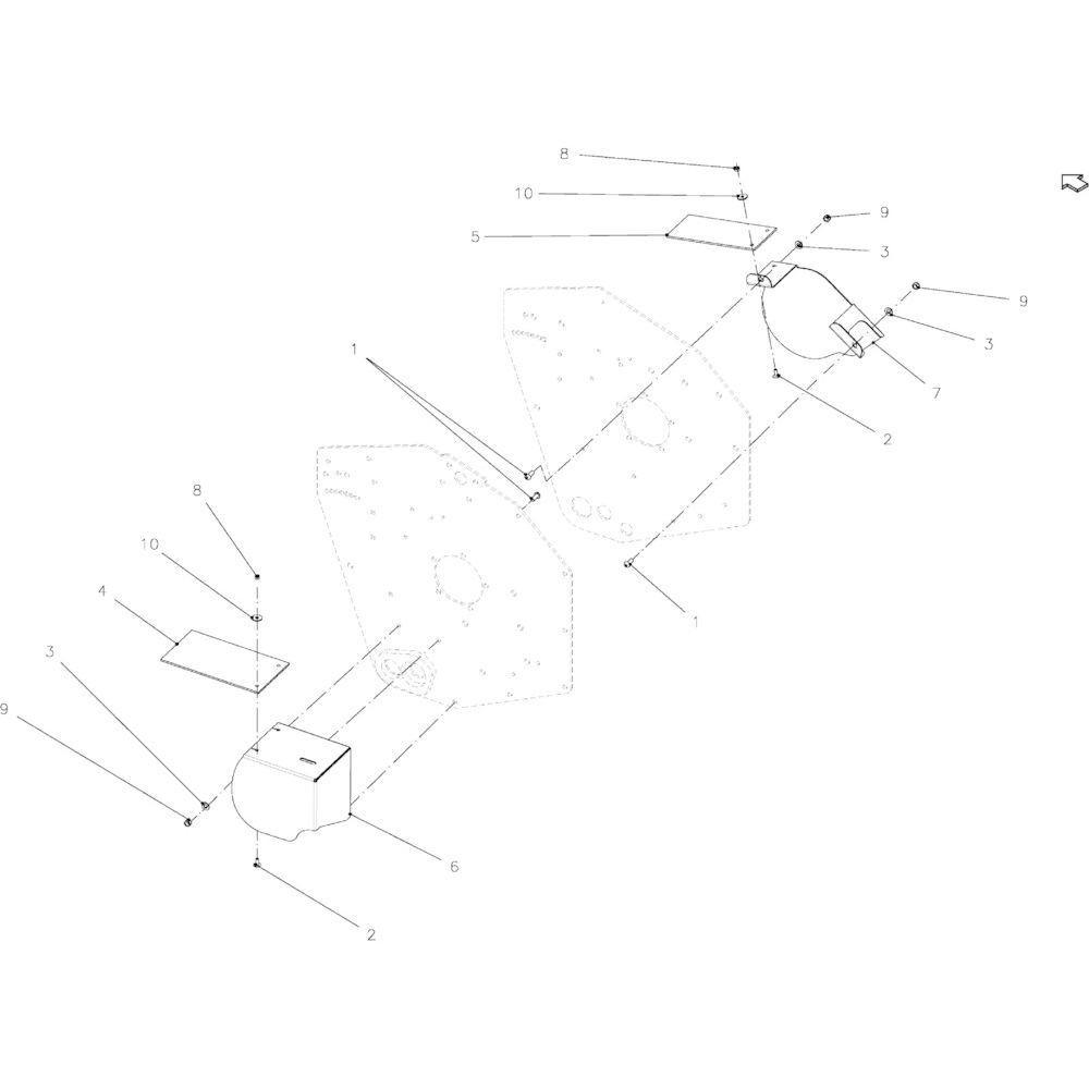 40 Kettingbeschermer 23-Oc passend voor KUHN FB2135