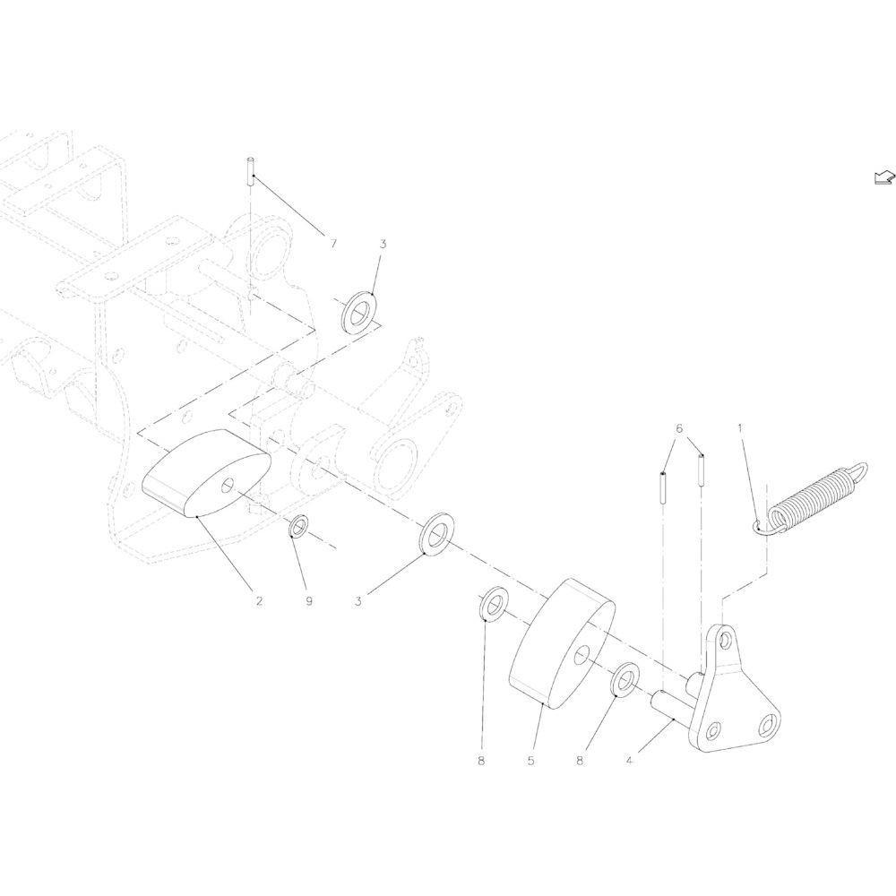 38 Spanner, ketting passend voor KUHN FB2135